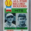 1979 Topps Baseball #411 Sisler/Cobb All-Time Record Holders Pack Fresh