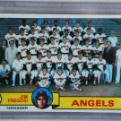 1979 Topps Baseball #424 Angels Team Checklist Pack Fresh