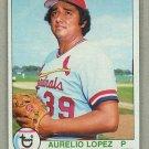 1979 Topps Baseball #444 Aurelio Lopez RC Cardinals Pack Fresh