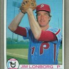 1979 Topps Baseball #446 Jim Lonborg Phillies Pack Fresh