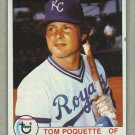 1979 Topps Baseball #476 Tom Poquette Royals Pack Fresh