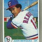 1979 Topps Baseball #478 Juan Beniquez Rangers Pack Fresh