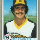 1979 Topps Baseball #506 John D'Acquisto Padres Pack Fresh