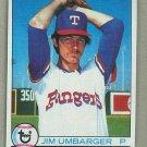 1979 Topps Baseball #518 Jim Umbarger Rangers Pack Fresh