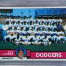 1979 Topps Baseball #526 Dodgers Team Checklist Pack Fresh