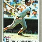 1979 Topps Baseball #593 Rick Dempsey Orioles Pack Fresh