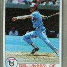 1979 Topps Baseball #628 Del Unser Expos Pack Fresh