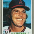 1979 Topps Baseball #638 Al Fitzmorris Angels Pack Fresh