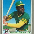 1979 Topps Baseball #658 Taylor Duncan RC A's Pack Fresh