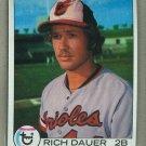 1979 Topps Baseball #666 Rich Dauer Orioles Pack Fresh