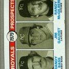 1979 Topps Baseball #707 Bass/Gaudet/McGilberry RC Royals Pack Fresh