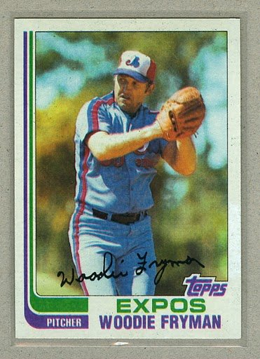 1982 Topps Baseball #788 Woodie Fryman Expos Pack Fresh