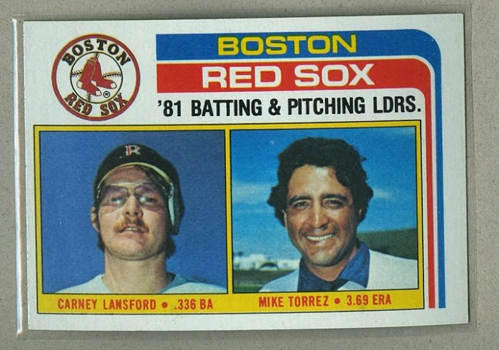 1982 Topps Baseball #786 Red Sox Team Checklist Pack Fresh