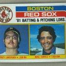 1982 Topps Baseball #786 Red Sox Team Checklist Pack Fresh