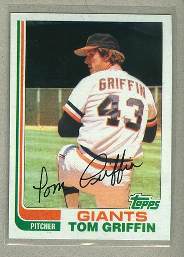 1982 Topps Baseball #777 Tom Griffin Giants Pack Fresh