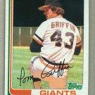 1982 Topps Baseball #777 Tom Griffin Giants Pack Fresh