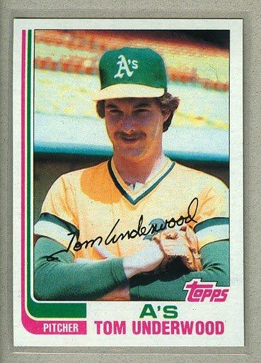 1982 Topps Baseball #757 Tom Underwood A's Pack Fresh