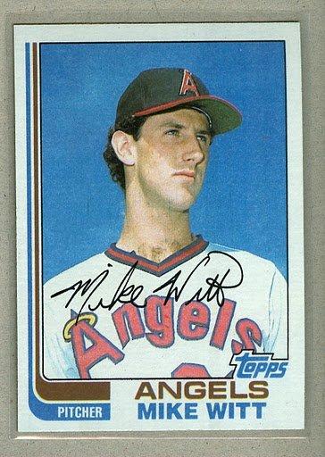 1982 Topps Baseball #744 Mike Witt Angels Pack Fresh