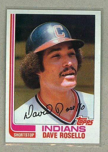 1982 Topps Baseball #724 Dave Rosello Indians Pack Fresh