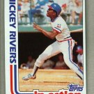 1982 Topps Baseball #705 Mickey Rivers Rangers Pack Fresh