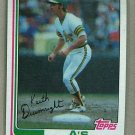 1982 Topps Baseball #673 Keith Drumright A's Pack Fresh