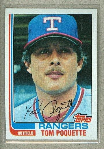 1982 Topps Baseball #657 Tom Poquette Rangers Pack Fresh