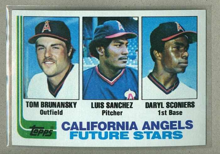 1982 Topps Baseball #653 Brunansky/Sanchez/Sconiers Angels Pack Fresh
