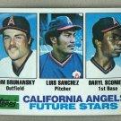 1982 Topps Baseball #653 Brunansky/Sanchez/Sconiers Angels Pack Fresh
