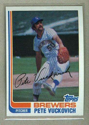 1982 Topps Baseball #643 Pete Vuckovich Brewers Pack Fresh