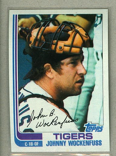 1982 Topps Baseball #629 Johnny Wockenfuss Tigers Pack Fresh