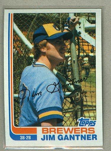1982 Topps Baseball #613 Jim Gantner Brewers Pack Fresh