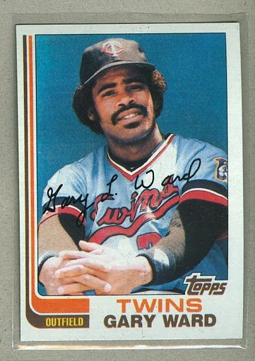 1982 Topps Baseball #612 Gary Ward Twins Pack Fresh