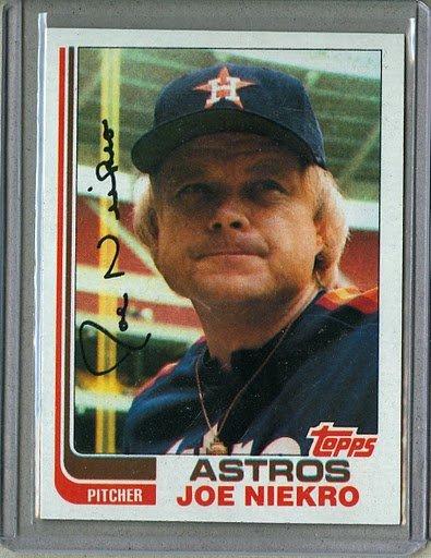 1982 Topps Baseball #611 Joe Niekro Astros Pack Fresh