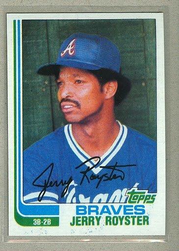 1982 Topps Baseball #608 Jerry  Royster Braves Pack Fresh