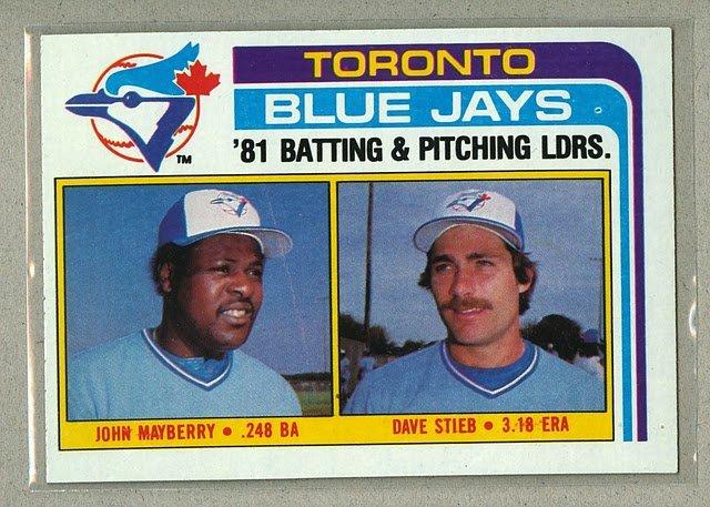 1982 Topps Baseball #606 Blue Jays Team Checklist Pack Fresh