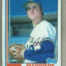 1982 Topps Baseball #598 Bob Galasso Mariners Pack Fresh