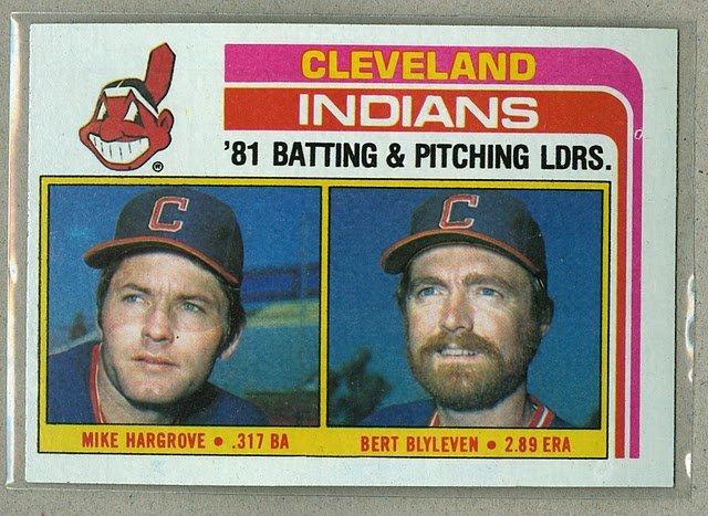1982 Topps Baseball #559 Indians Team Checklist Pack Fresh