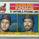 1982 Topps Baseball #559 Indians Team Checklist Pack Fresh