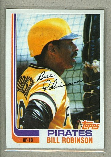 1982 Topps Baseball #543 Bill Robinson Pirates Pack Fresh