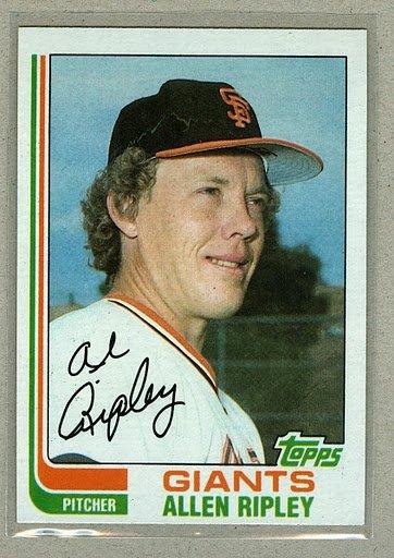 1982 Topps Baseball #529 Allen Ripley Giants Pack Fresh
