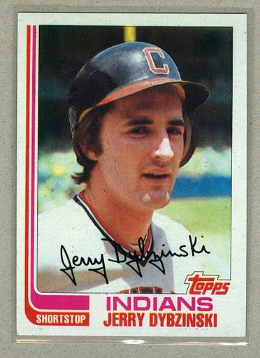 1982 Topps Baseball #512 Jerry Dybzinski Indians Pack Fresh