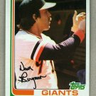 1982 Topps Baseball #498 Dave Bergman Giants Pack Fresh