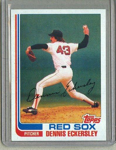 1982 Topps Baseball #490 Dennis Eckersley Red Sox Pack Fresh