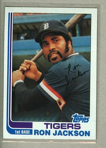 1982 Topps Baseball #488 Ron Jackson Tigers Pack Fresh