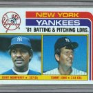 1982 Topps Baseball #486 Yankees Team Checklist Pack Fresh