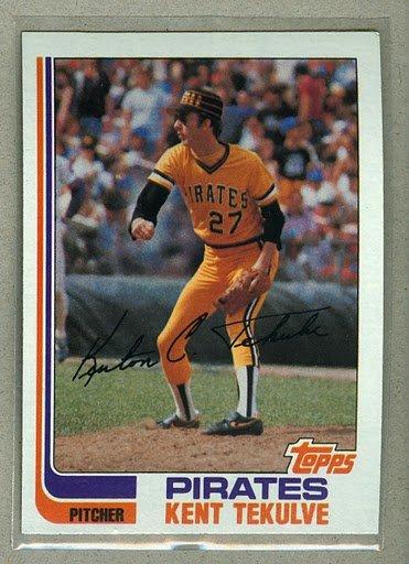 1982 Topps Baseball #485 Kent Tekulve Pirates Pack Fresh