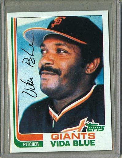 1982 Topps Baseball #430 Vida Blue Giants Pack Fresh