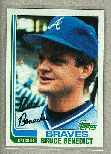 1982 Topps Baseball #424 Bruce Benedict Braves Pack Fresh