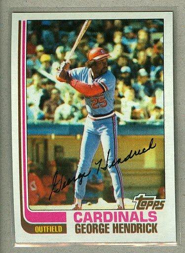 1982 Topps Baseball #420 George Hendrick Cardinals Pack Fresh