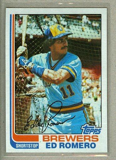 1982 Topps Baseball #408 Ed Romero Brewers Pack Fresh